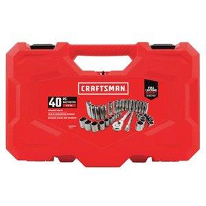CRAFTSMAN 40-Piece Standard (SAE) and Metric Mechanic's Tool Set