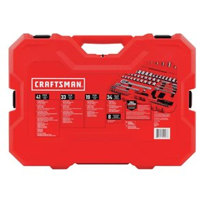 CRAFTSMAN 135-Piece Standard (SAE) and Metric Mechanic's Tool Set