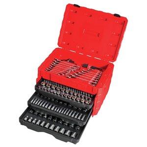 CRAFTSMAN 222-Piece Standard (SAE) and Metric Mechanic's Tool Set with Hard