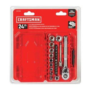 CRAFTSMAN 24-Piece Standard (SAE) Polished Chrome Mechanics Tool Set