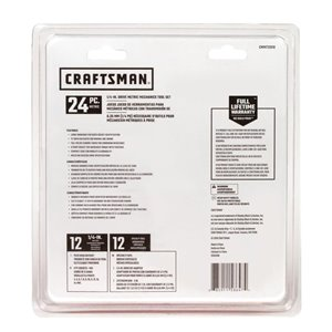 CRAFTSMAN 24-Piece Metric Polished Chrome Mechanics Tool Set