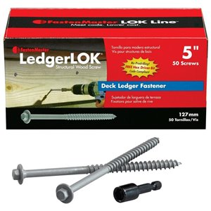 FastenMaster 50-Count 5-in Structural Wood Screws