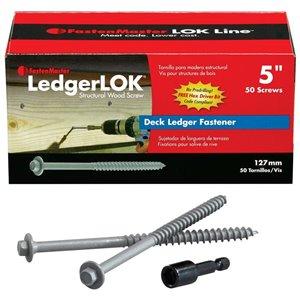 LedgerLOK Hex Washer-Head Structural Wood Screws