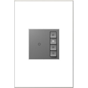 Legrand adorne Sensaswitch 600-Watt Single Pole 3-Way Magnesium Indoor Momentary Light Switch