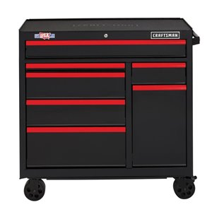 CRAFTSMAN 41-in W x 37.5-in H Black 7-Drawer Steel Tool Cabinet