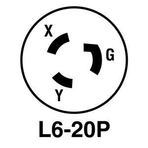Legrand 20-Amp 250-Volt Black 3-Wire Grounding Plug