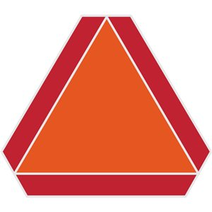 Hillman 16-in x 14-in Slow Moving Vehicle Sign
