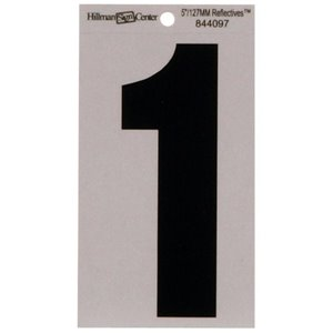 5-in Reflective Mylar Numbers