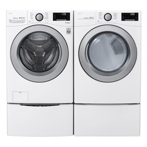 LG 5.2-cu ft High Efficiency Stackable Front-Load Washer ...