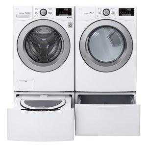 LG 7.4-cu ft Stackable Front-Load Electric Dryer (White) ENERGY STAR