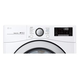 LG 7.4-cu ft Reversible side swing Stackable Electric Dryer (WHITE) ENERGY STAR