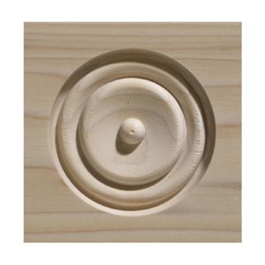 0.81-in x 4.5-in x 4.5-in Unfinished Whitewood Rosette Moulding Block