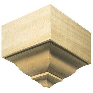 EverTrue 4.18-in x 4.18-in x 8.625-in Stain Grade Whitewood Inside Corner Crown Moulding Block