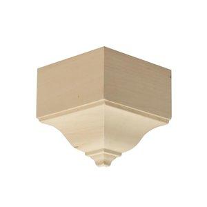 EverTrue 3.125-in x 3.125-in x 5.875-in Stain Grade Whitewood Outside Corner Crown Moulding Block