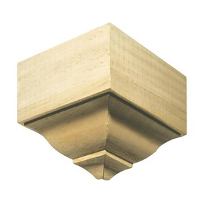 EverTrue 4.125-in x 4.125-in White Hardwood Outside Corner Crown Moulding Block
