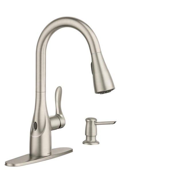 Moen Arlo Motion Sense Wave 1 Handle Pull Down Kitchen Faucet Lowe S Canada