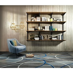 Style Selections 11-in Double Track Shelf Bracket