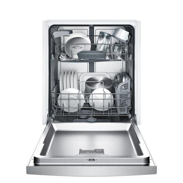 Bosch 100 Series 24 In 50 Decibel Filtration Built In Dishwasher Fingerprint Resistant Stainless Steel Energy Star Lowe S Canada