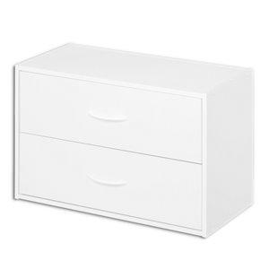 ClosetMaid 24.13-in White Laminate Stacking Storage