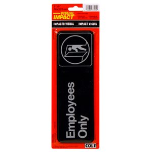 Hillman 3-in x 9-in Employees Only Sign