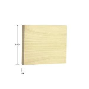 3/4 x 5-1/2 x 8-ft Poplar S4S