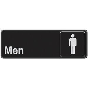 3-in x 9-in Men Sign