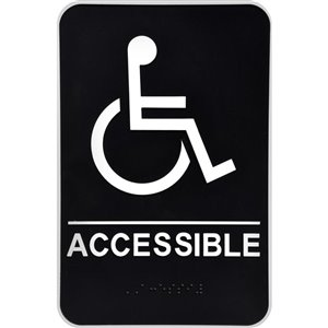 Hillman 9-in x 6-in Handicap Accessible Sign