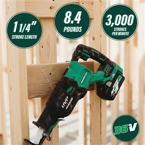 Metabo HPT (was Hitachi Power Tools) MultiVolt 36-Volt Variable Speed Cordless Reciprocating Saw