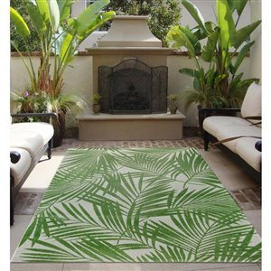 8-ft x 10-ft Bright Palm Woven Outdoor Area Rug