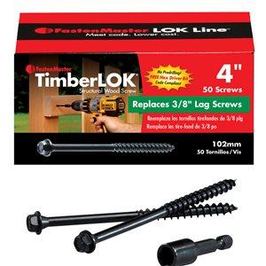 TimberLOK #0 Black Structural Wood Screws