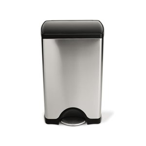 simplehuman 38l brushed stainless steel indoor garbage can