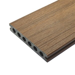 Leadvision ELEGANCE PREMIUM 12-ft Teak Grooved Composite Deck Board