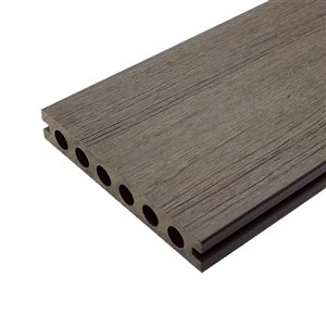 Leadvision ELEGANCE PREMIUM 16-ft Mirage Gray Grooved Composite Deck Board