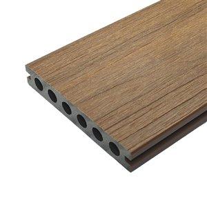 Leadvision ELEGANCE PREMIUM 16-ft Teak Grooved Composite Deck Board