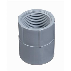 CARLON 1-in Adapter Coupling Schedule 40 PVC Compatible Schedule 80 PVC Compatible Conduit Fitting