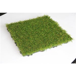 Leadvision ELEGANCE PLUS 12-in x 12-in Artificial Grass Deck Tile (10-Pack)