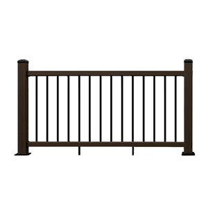 Leadvision (Actual: 3-in x 42-in x 6-in) ELEGANCE PLUS Chocolate Composite Deck Handrail