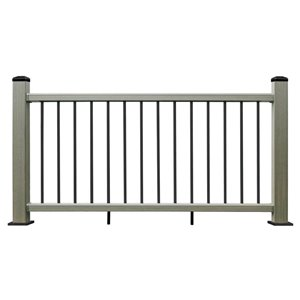 Leadvision (Actual: 3-in x 42-in x 6-in) ELEGANCE PREMIUM Gray Composite Deck Handrail