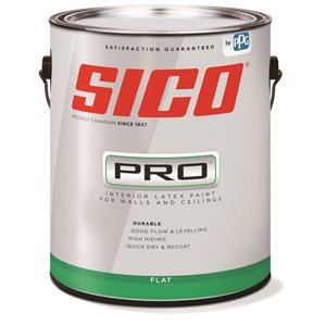 SICO Black Flat Latex Interior Paint (Actual Net Contents:124.0)