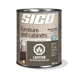 SICO Furniture White Soft-gloss Latex Interior Paint (Actual Net Contents:30.0)