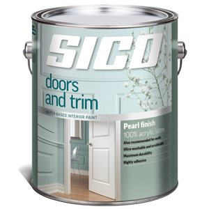SICO Door and Trim Multi-Colour Satin Latex Interior Paint (Actual Net Contents:124.0)
