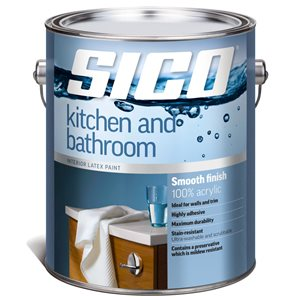 SICO White Soft-gloss Latex Interior Paint (Actual Net Contents:124.0)