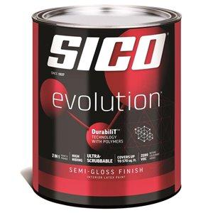 SICO Pure White Semi-gloss Latex Interior Paint (Actual Net Contents:30.0)