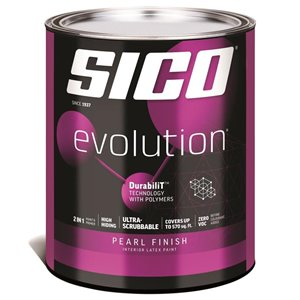 SICO Pure White Satin Latex Interior Paint (Actual Net Contents:30.0)