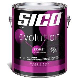 SICO Pure White Satin Latex Interior Paint (Actual Net Contents:124.0)