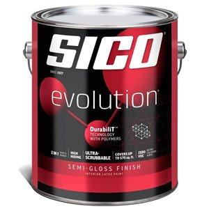 SICO White Semi-gloss Latex Interior Paint (Actual Net Contents:124.0)