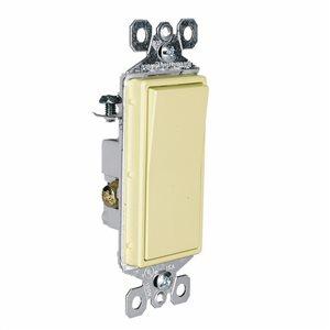 Pass & Seymour/Legrand 15-Amp Brown 3-Way Decorator Light Switch