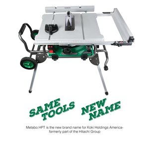 Metabo HPT (was Hitachi Power Tools) 10 -in Jobsite Table Saw