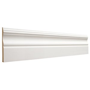 3/8 x 3-7/8 x 8-ft Colonial Primed MDF Baseboard Moulding