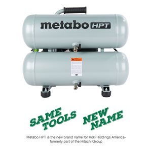 Metabo HPT (was Hitachi Power Tools) Portable 4 Gallon Twin Stack Air Compressor